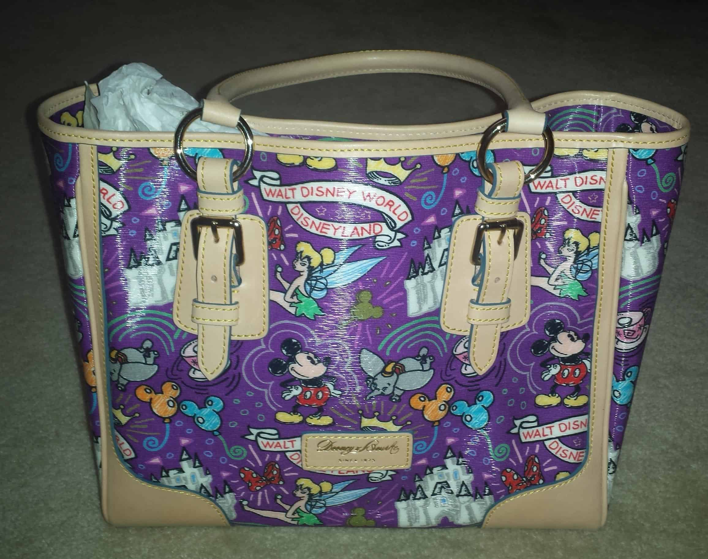 Sketch Purple Large Shopper OOAK