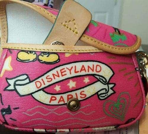 Disneyland Paris Sketch Pink Wristlet
