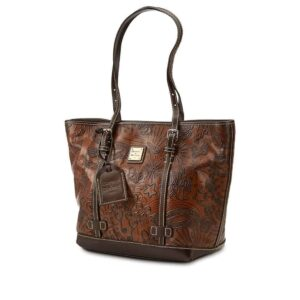 Brown Leather Sketch Shopper