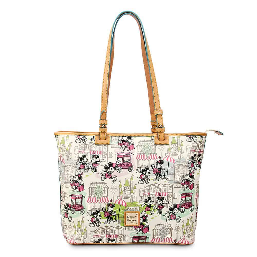 Mickey and Minnie Downtown Pink Large Shopper Tote