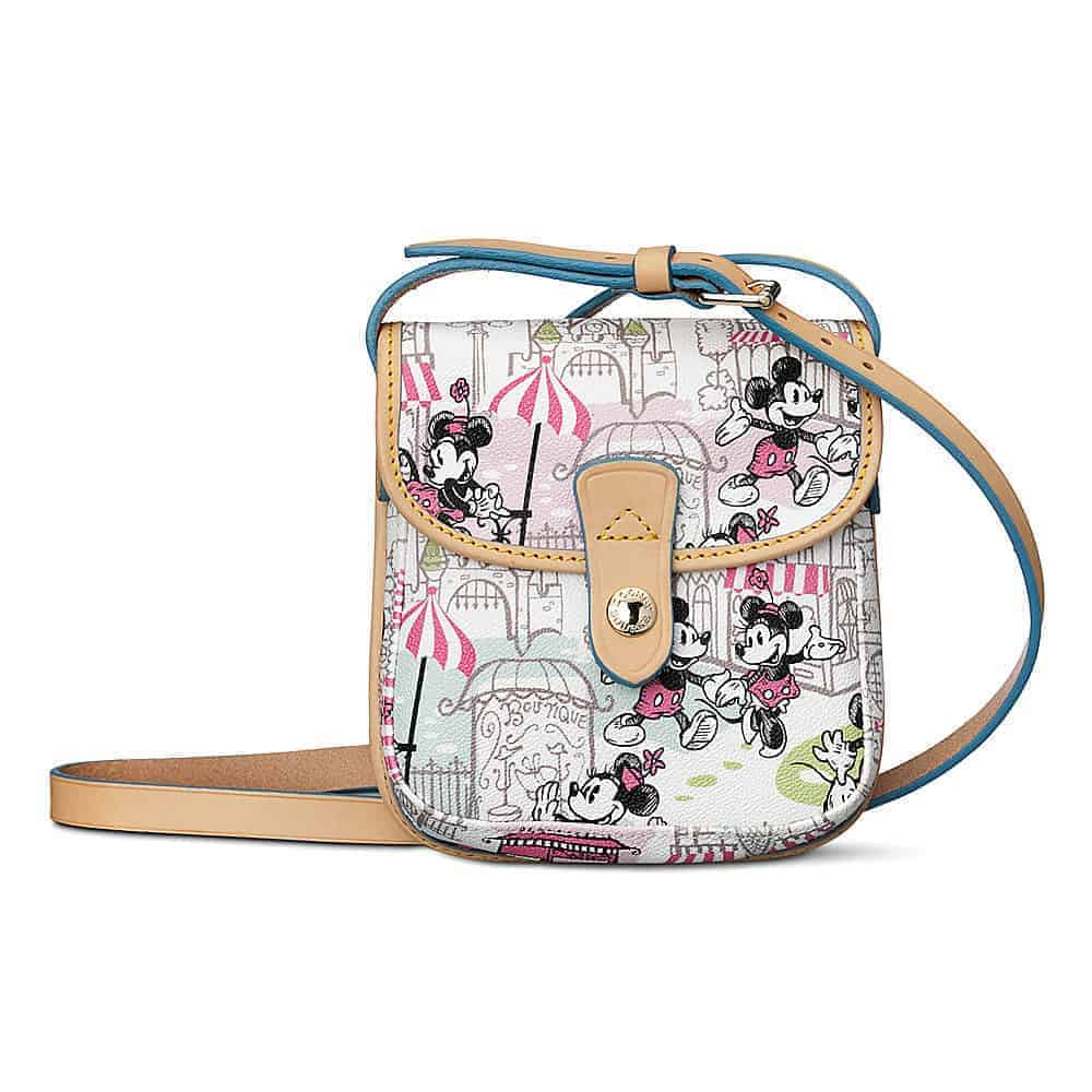 Mickey and Minnie Downtown Pink Small Pouch Crossbody