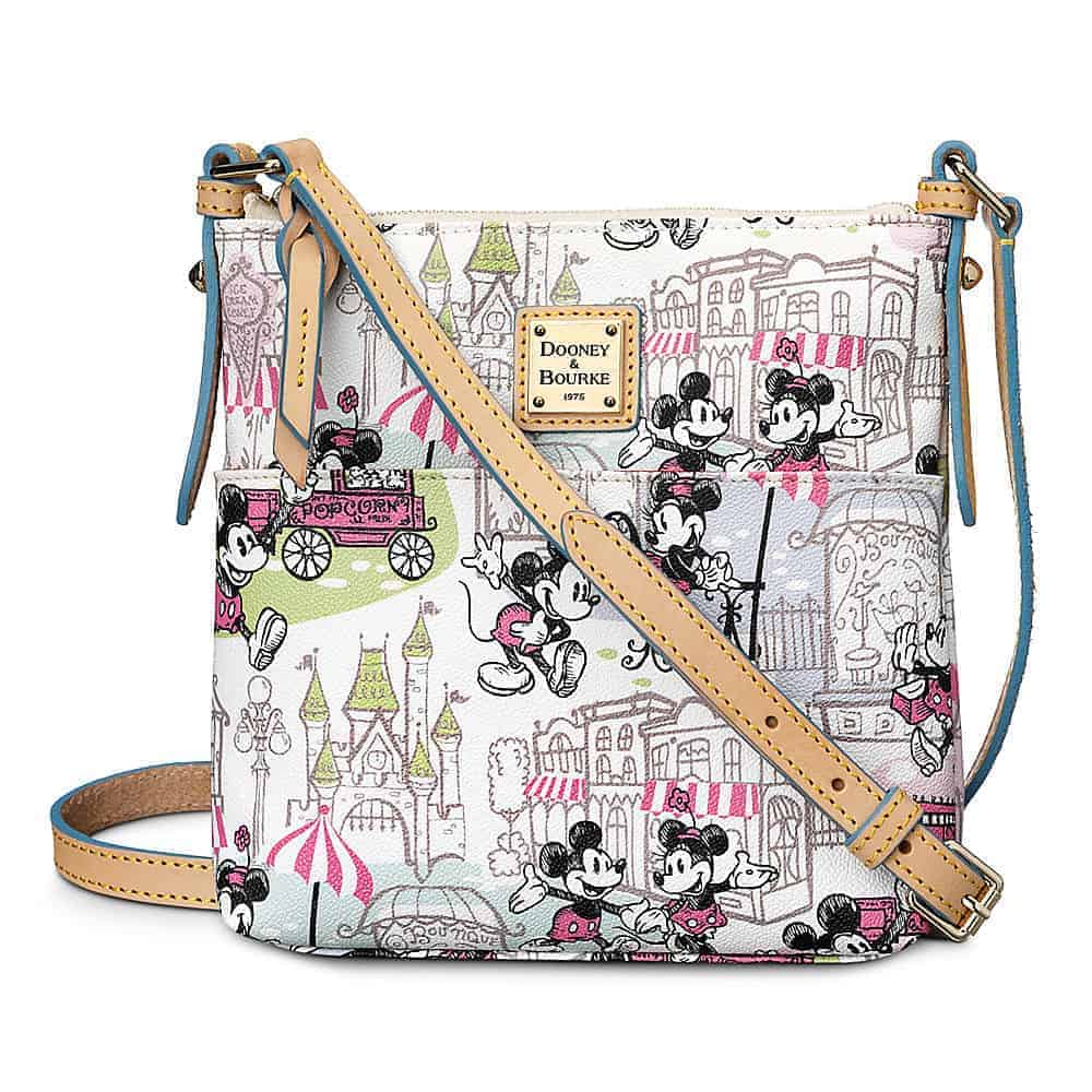 Mickey and Minnie Downtown Pink Letter Carrier / Crossbody