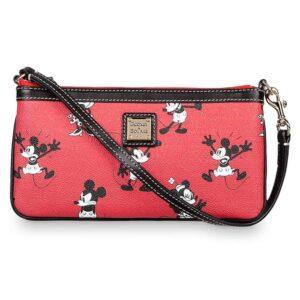 Mickey & Minnie Retro Red Zip Wristlet
