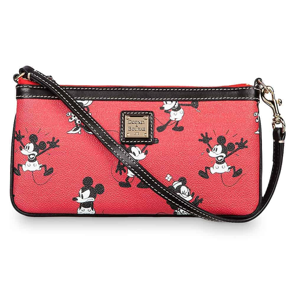 Mickey & Minnie Retro Red Zip Wristlet