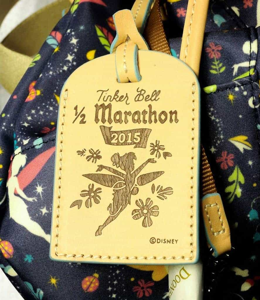 Tinker Bell Half 2015 Leather Tag