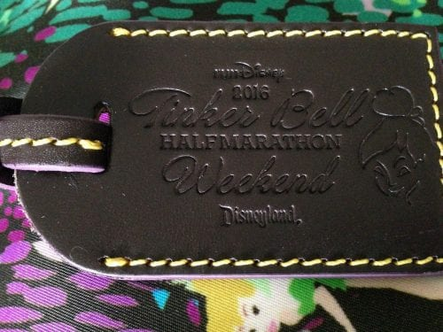 Tinker Bell Half 2016 Leather Tag