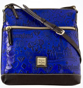 Disneyland 60th Anniversary Blue Leather Crossbody