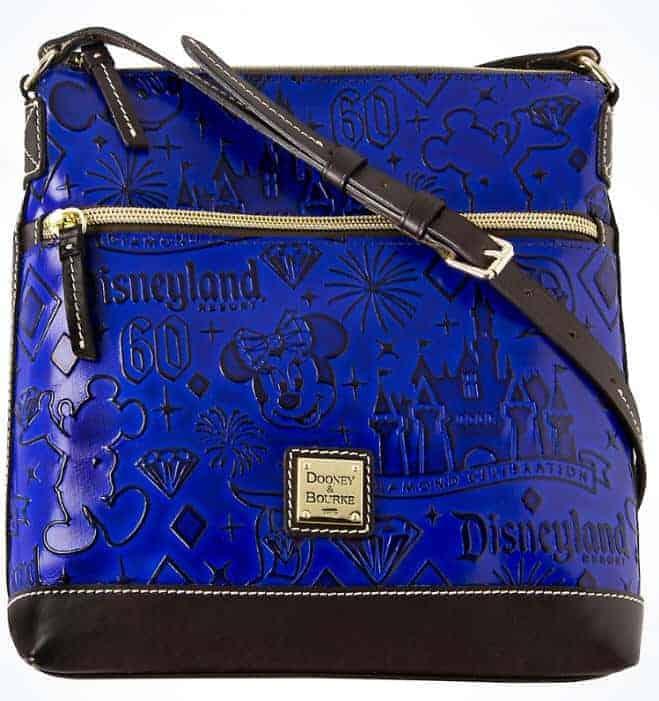 Disneyland 60th Anniversary Blue Leather Crossbody