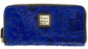 Disneyland 60th Anniversary Blue Leather Wallert