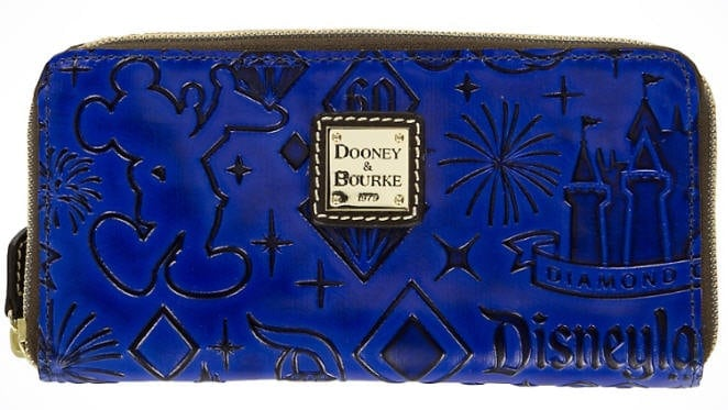 Disneyland 60th Anniversary Blue Leather Wallert