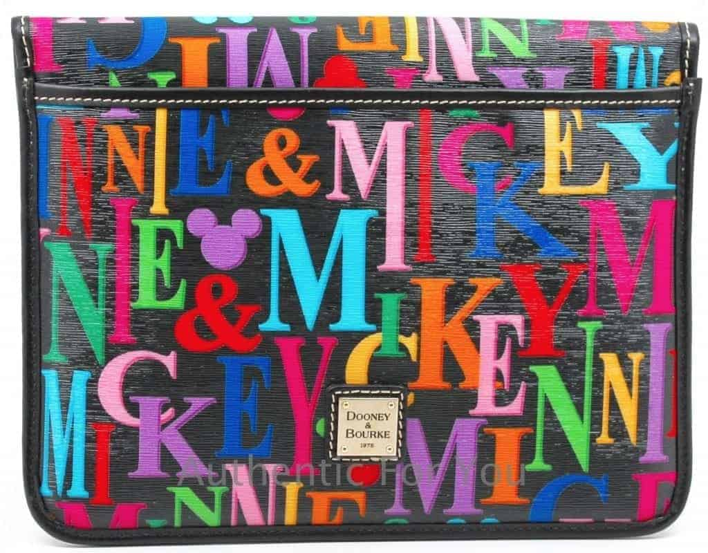 Mickey & Minnie Rainbow Names iPad Case OOAK (back)