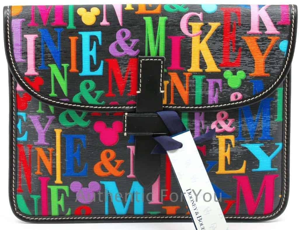Mickey & Minnie Rainbow Names iPad Case OOAK
