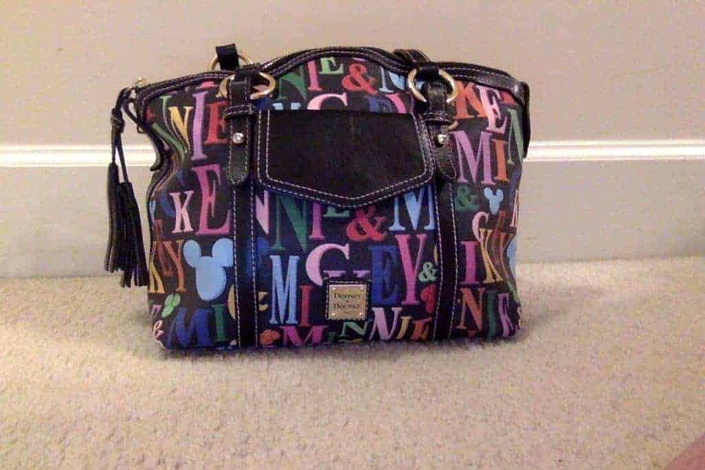 Mickey and Minnie Rainbow Black Pocket Satchel