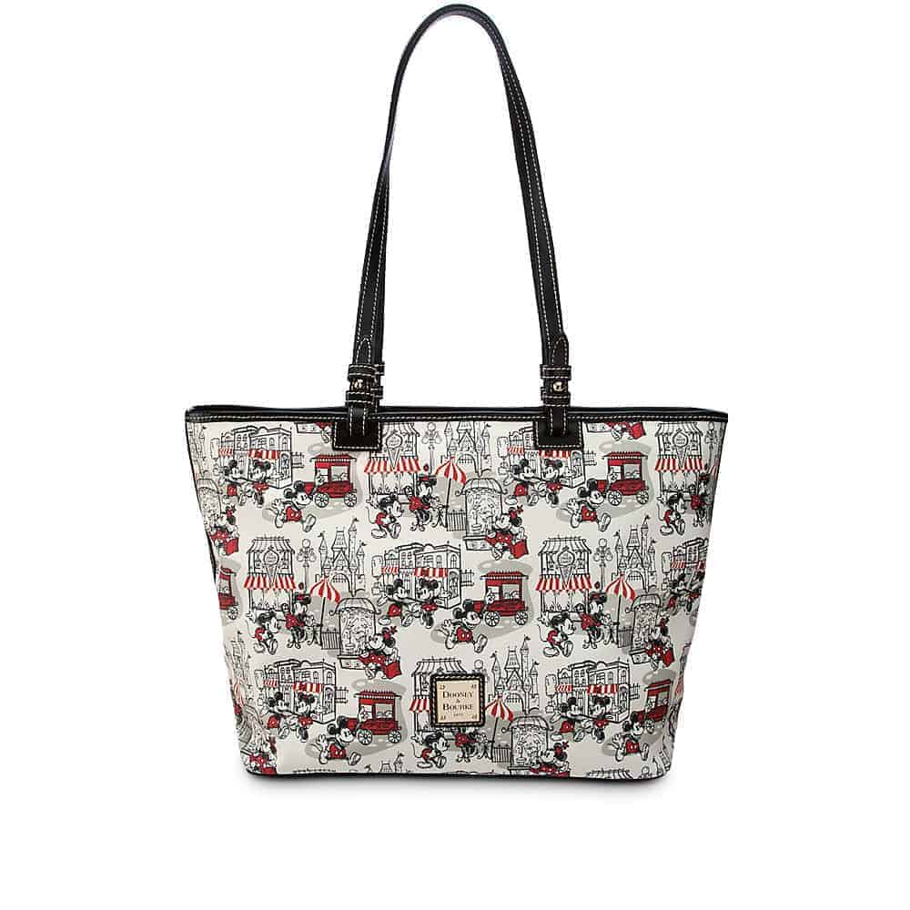 Mickey and Minnie Downtown Red Large Shopper Tote