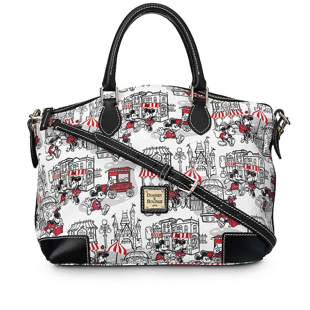 Mickey and Minnie Downtown Red Satchel