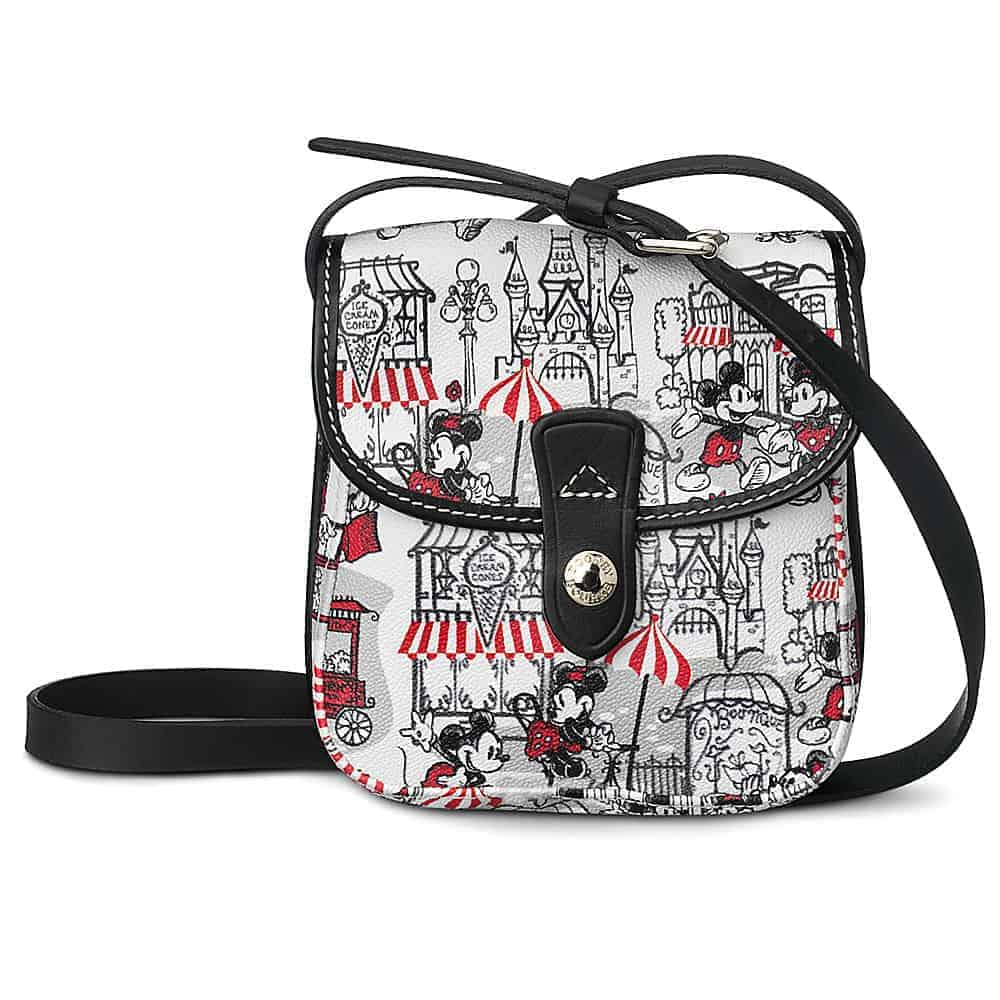 Mickey and Minnie Downtown Red Small Pouch Crossbody