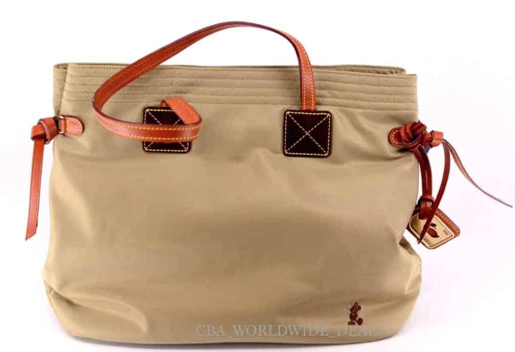 Tan Nylon Shopper w/ brown Mickey OOAK