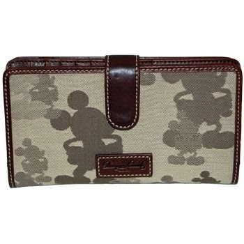 Mickey Tonal Checkbook Wallet