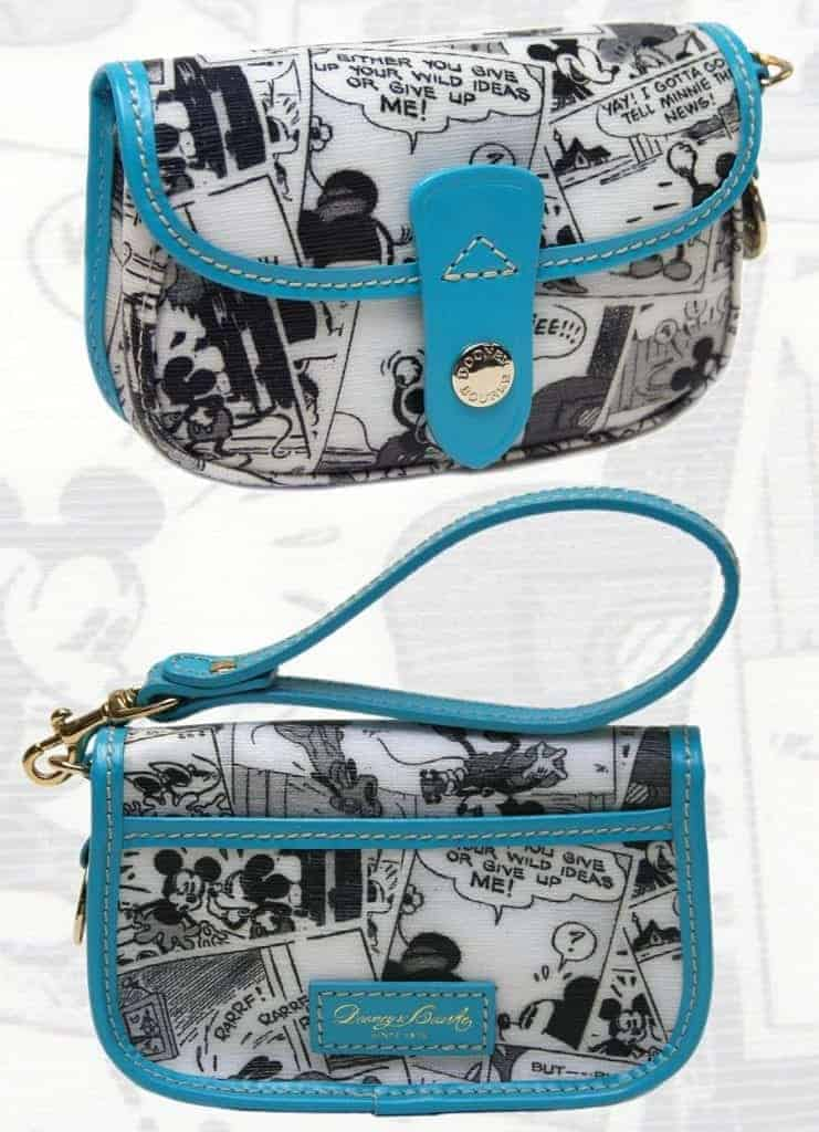 Comics Teal Snap Wristlet
