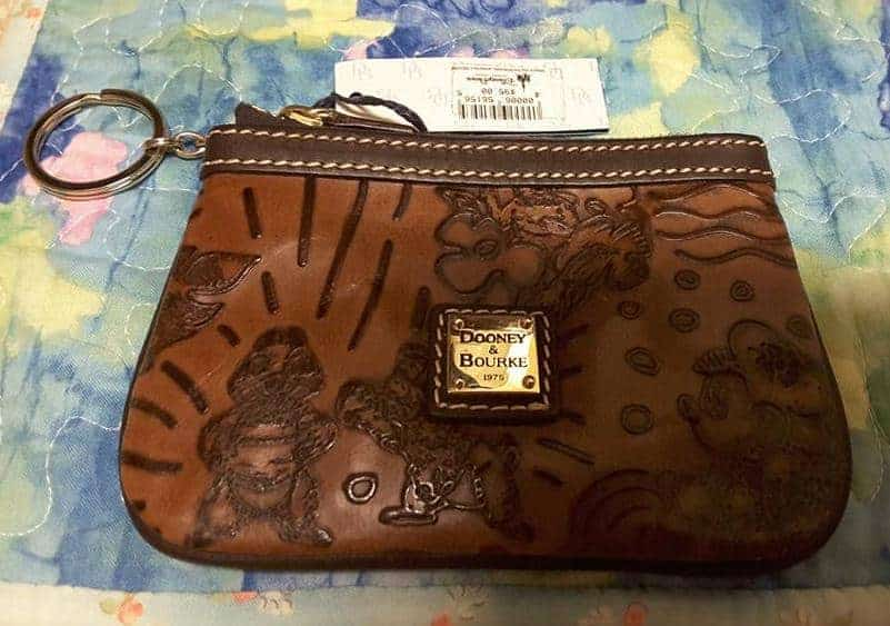 Aulani Brown Leather Wristlet