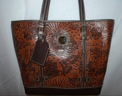 Aulani Brown Leather Tote