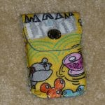 Yellow Sketch Credit Card Holder