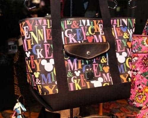 Mickey & Minnie Rainbow Names Black Tote