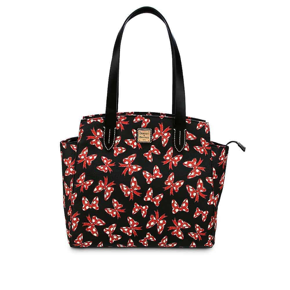 Black Minnie Bows Fan Shopper Bag