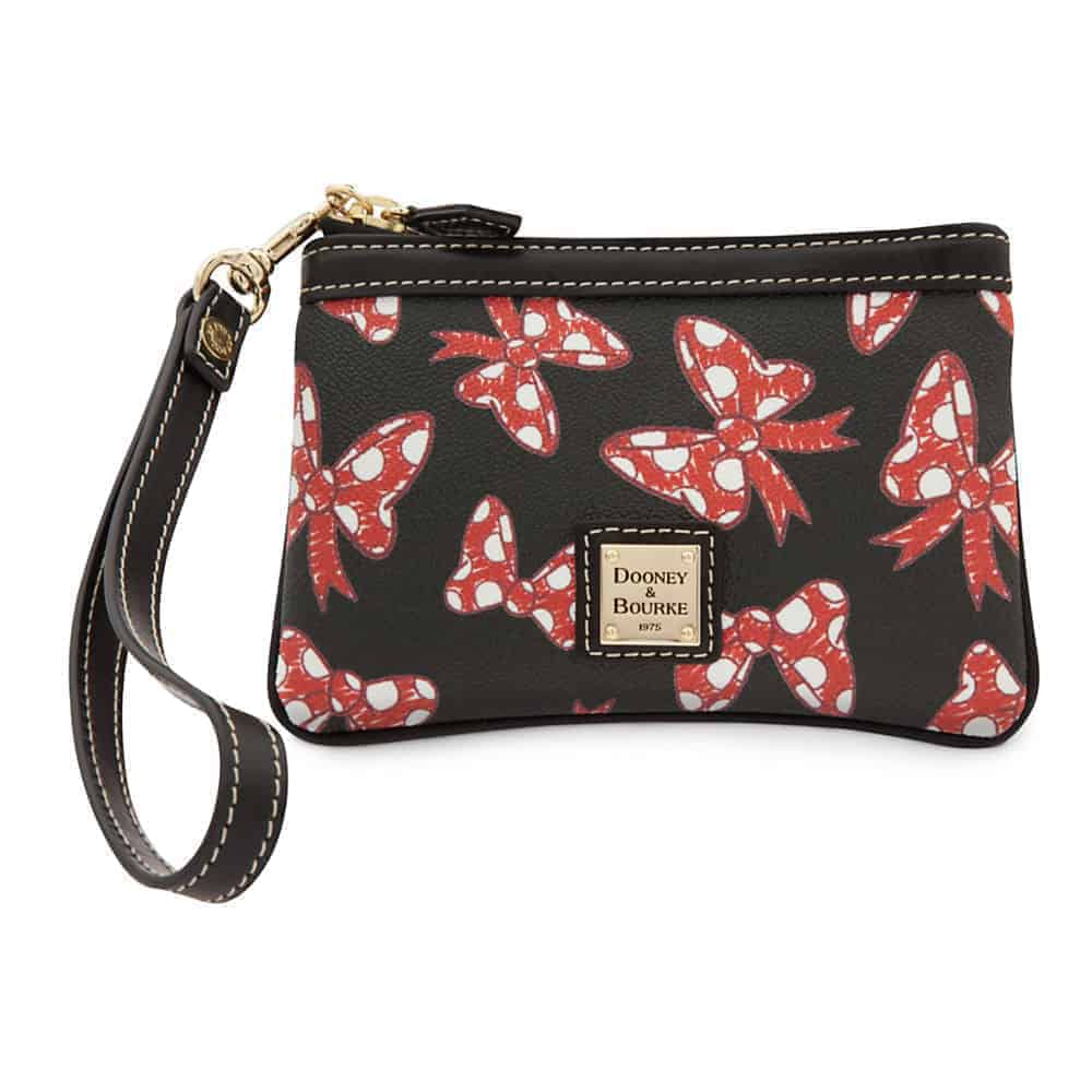 Black Minnie Bows Small Wristlet
