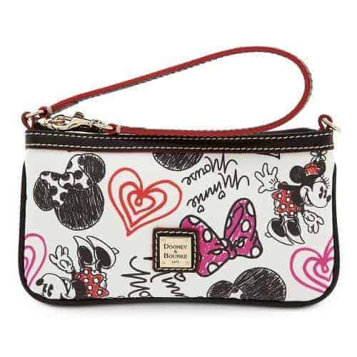 Minnie Hearts and Bows Wristlet