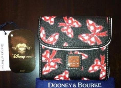 Japan Minnie Bows Black Small Wallet
