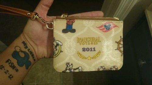 DCL Dream Zip Wristlet (back)