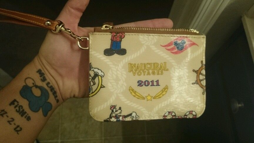DCL Dream Zip Wristlet (back)