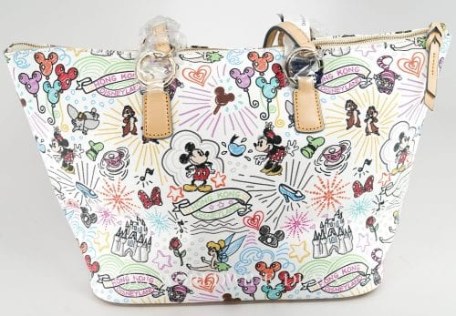 Hong Kong Disneyland Sketch Large Tote (back)