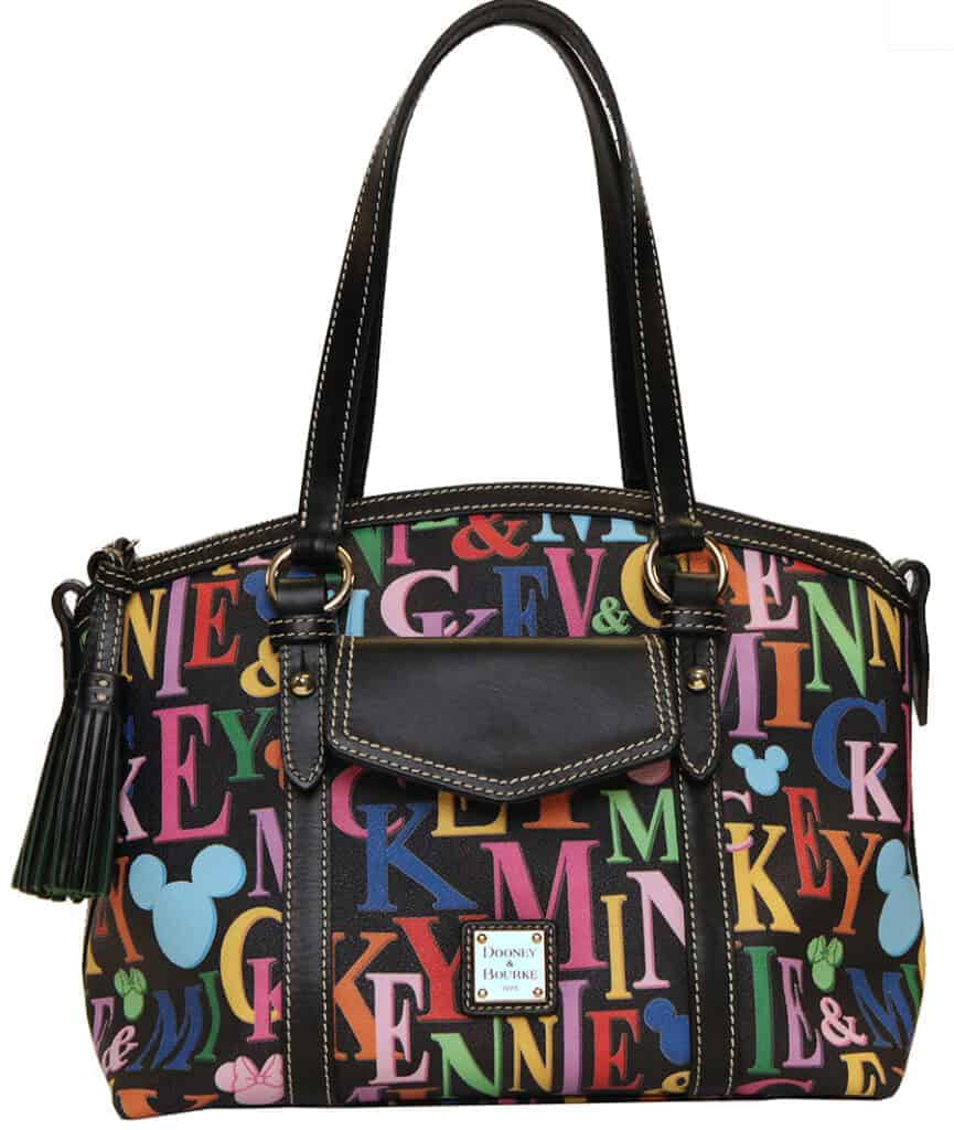 Mickey and Minnie Names Pocket Satchel