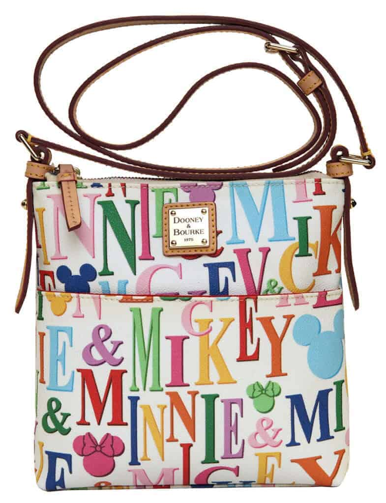 Mickey and Minnie Rainbow Names White Letter Carrier