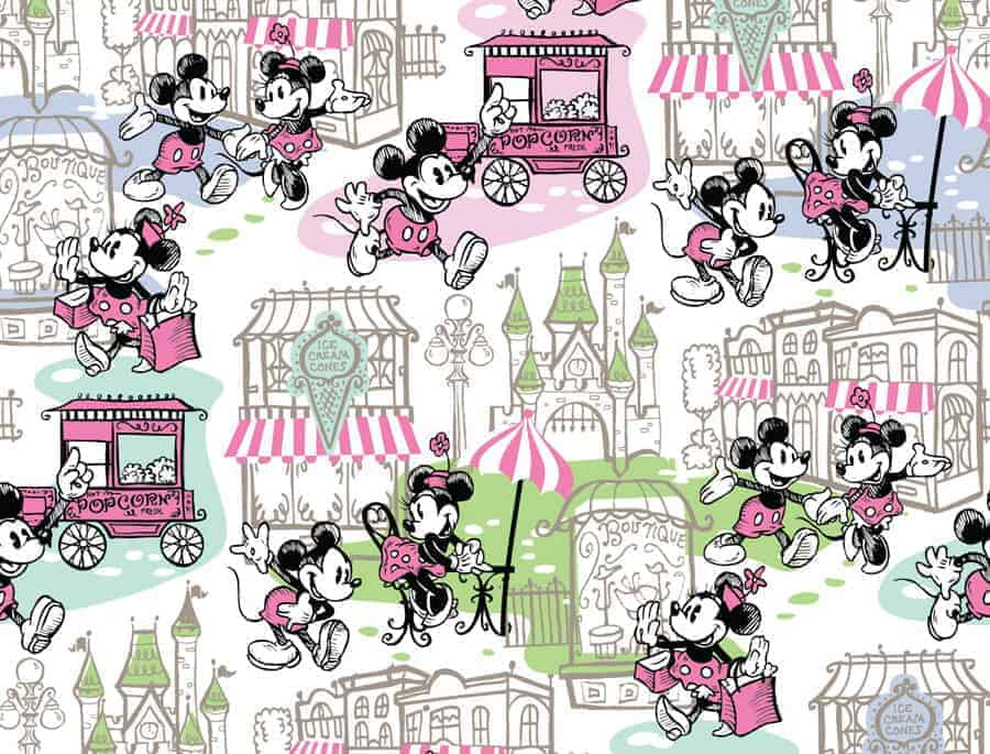 Pink Downtown Mickey & Minnie