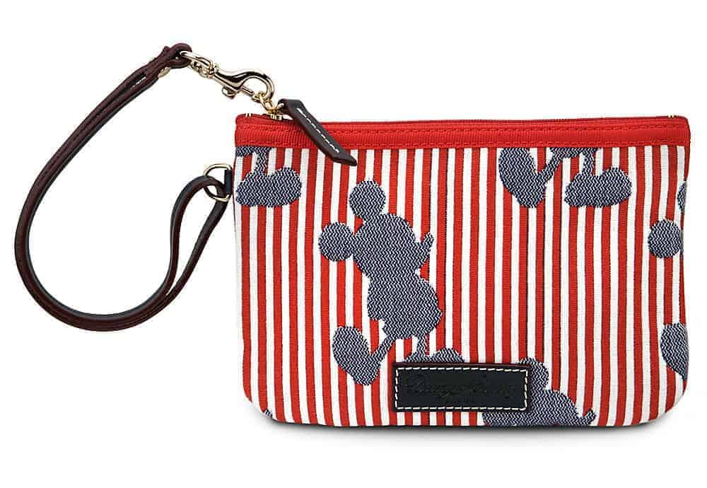 Red Mickey Stripes Wristlet