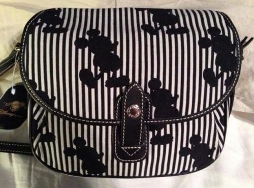 Japan Black Mickey Stripes Shoulder Crossbody