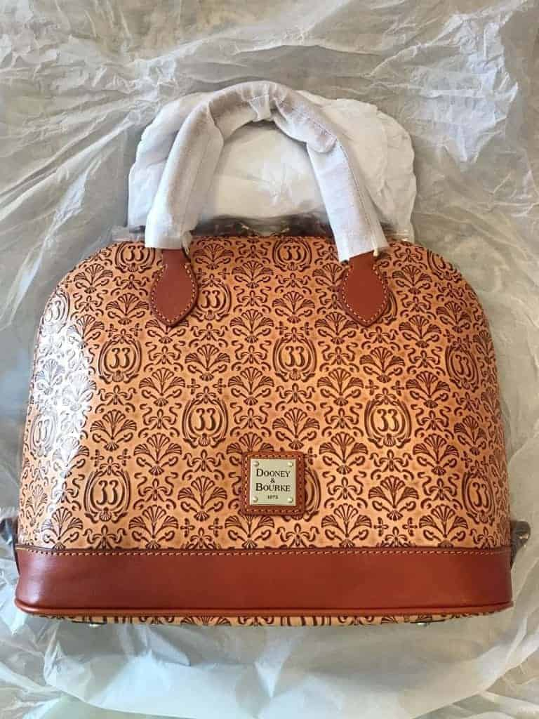 Club 33 Embossed Leather Satchel