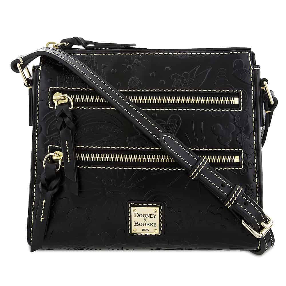 Black Embossed Sketch Crossbody