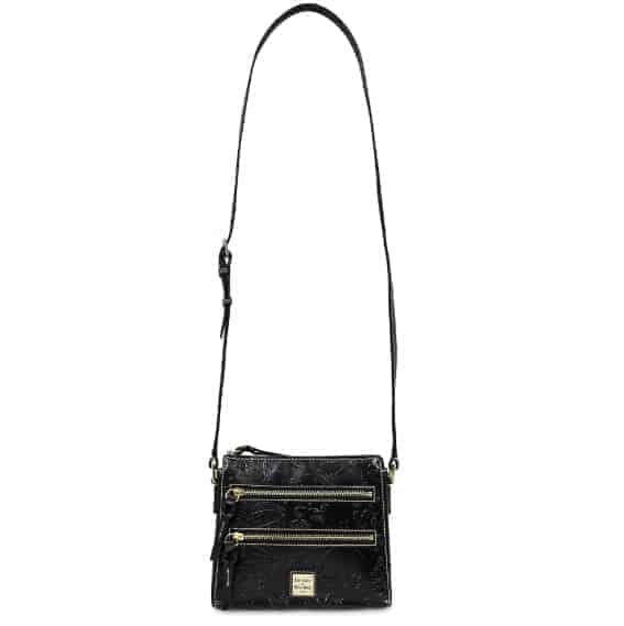 Black Embossed Sketch Crossbody (strap)