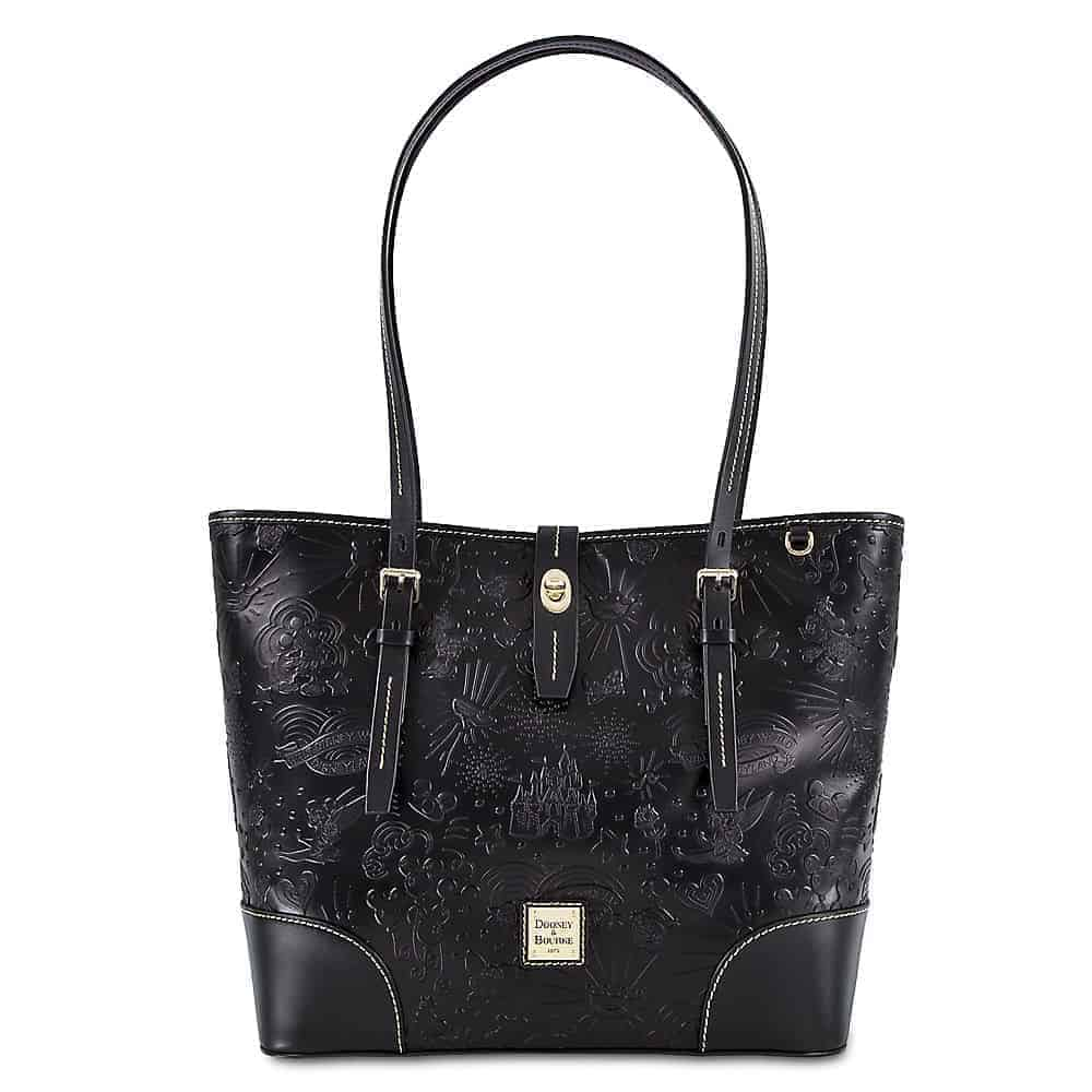 Black Embossed Sketch Tote