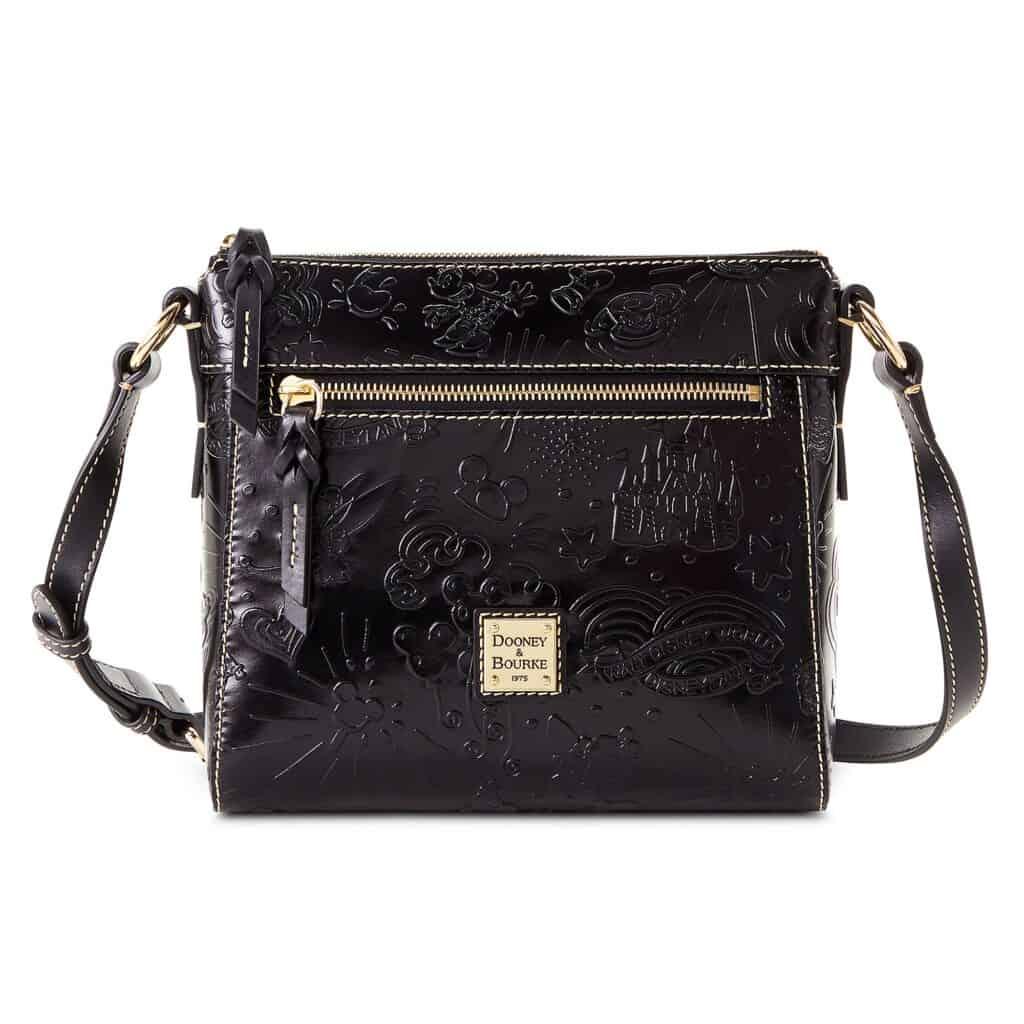 Black Embossed Leather Sketch 2021 Crossbody Bag by Disney Dooney & Bourke