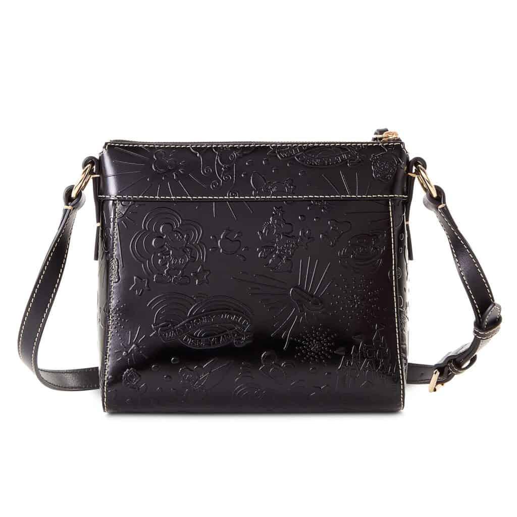 Black Embossed Leather Sketch 2021 Crossbody Bag (back) by Disney Dooney & Bourke