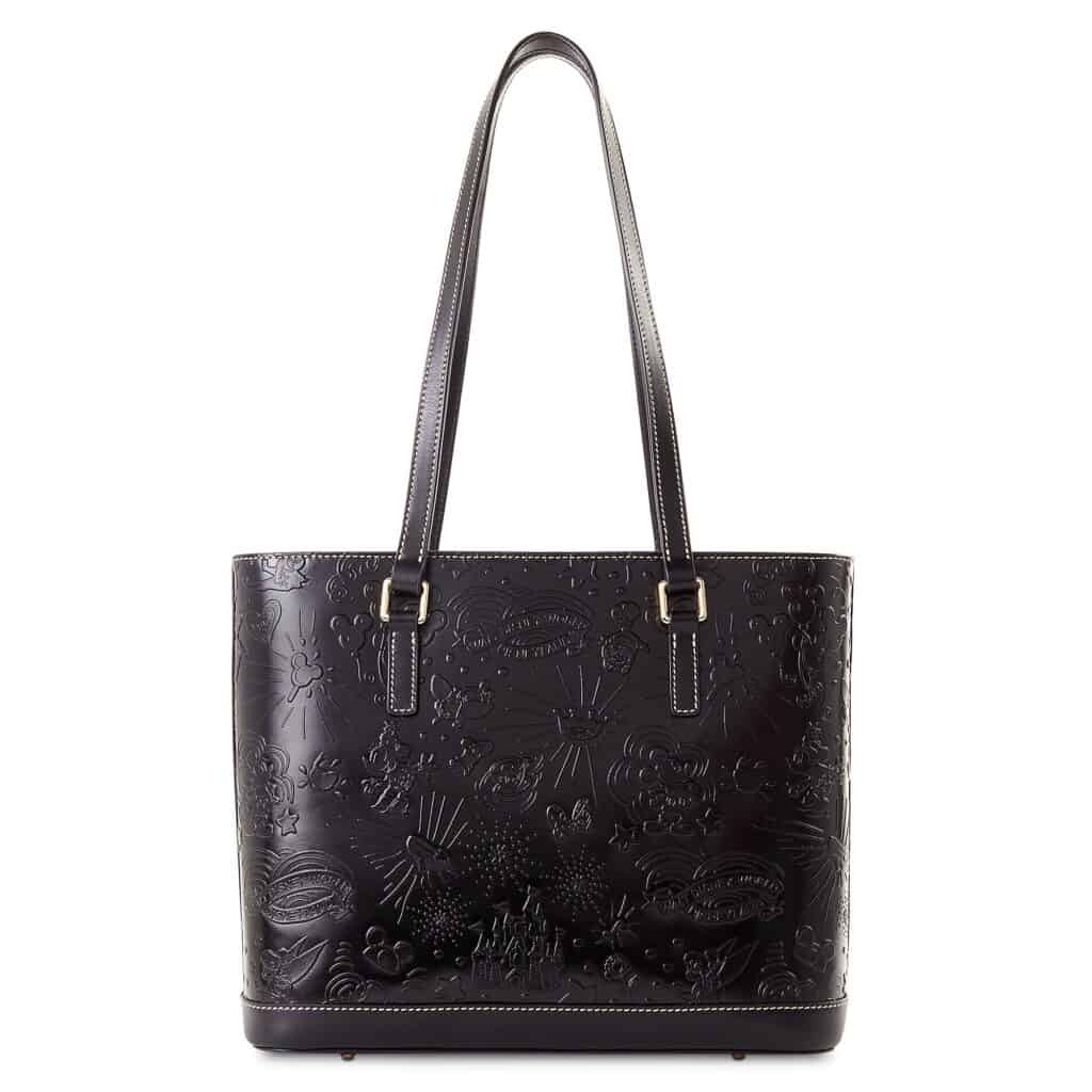 Black Embossed Leather Sketch 2021 Shopper Tote (back) by Disney Dooney & Bourke