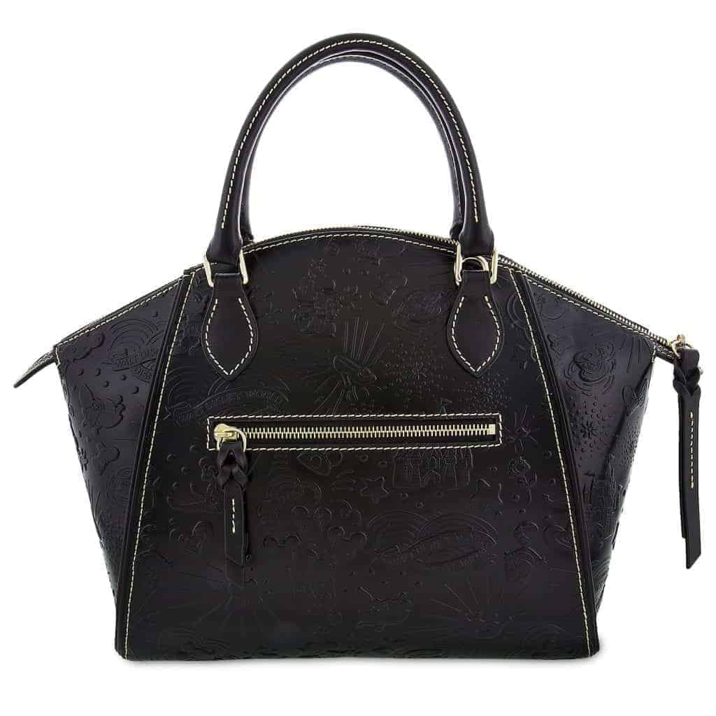 Black Embossed Sketch Satchel (back)