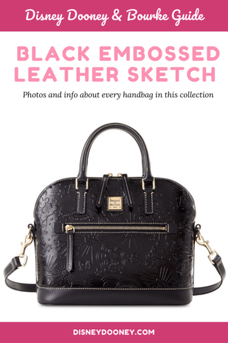 Pin me - Black Embossed Leather Sketch