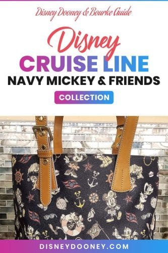 Pin me - Disney Dooney and Bourke Disney Cruise Line Navy Mickey & Friends Collection