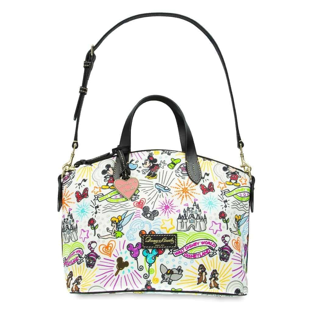 Disney Sketch Nylon Satchel (strap)